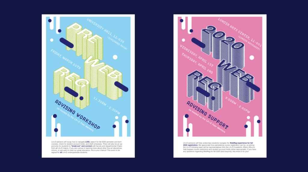 Lesley Web Registration posters by Jadzia Genece