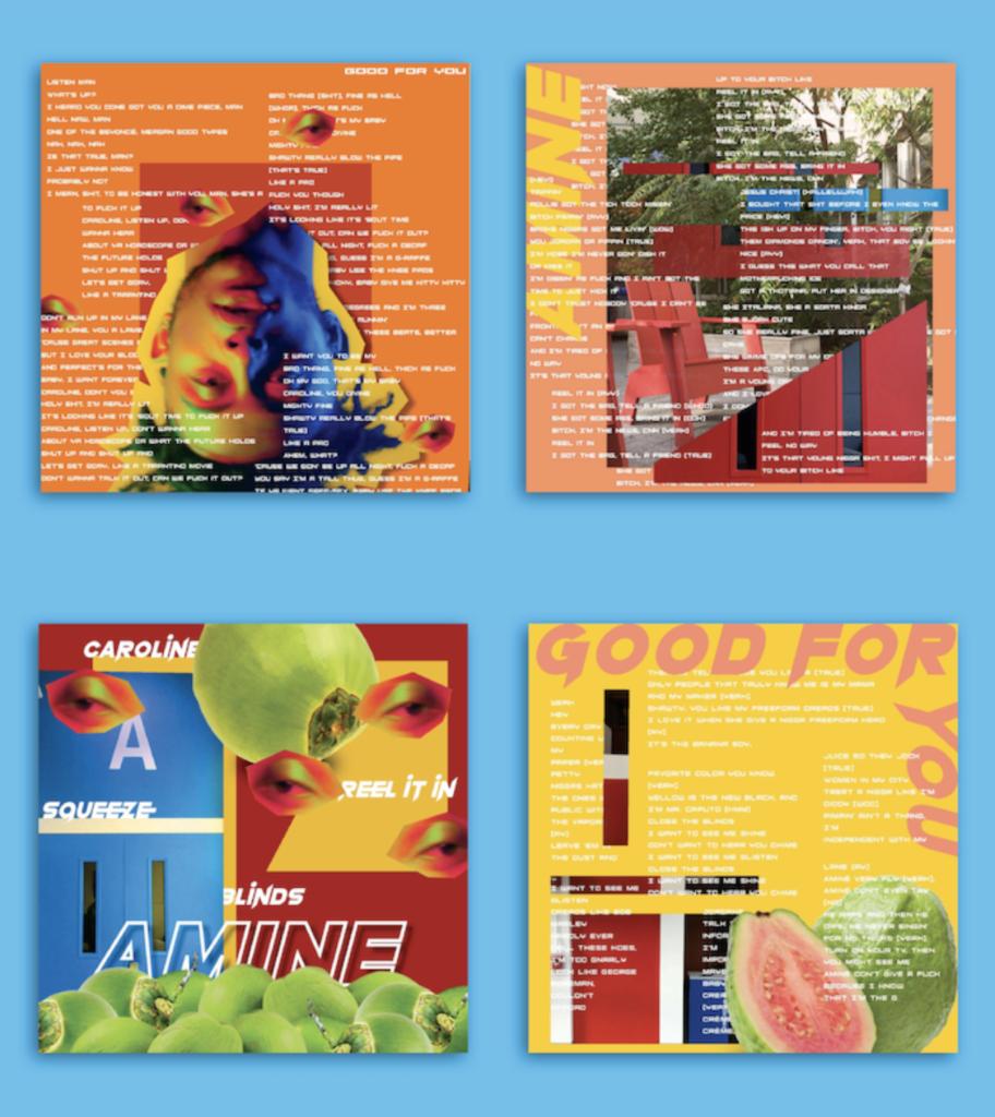 """Good for you"" Amine album cover by Jadzia Genece"
