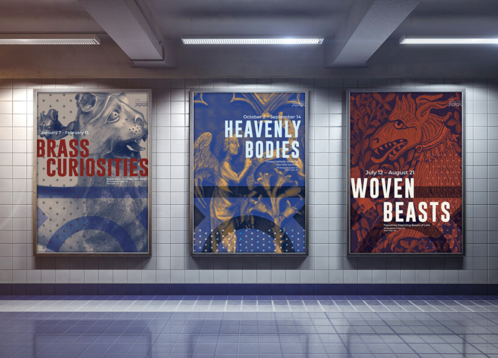 Posters for the Cloisters museum by Cendana Auger