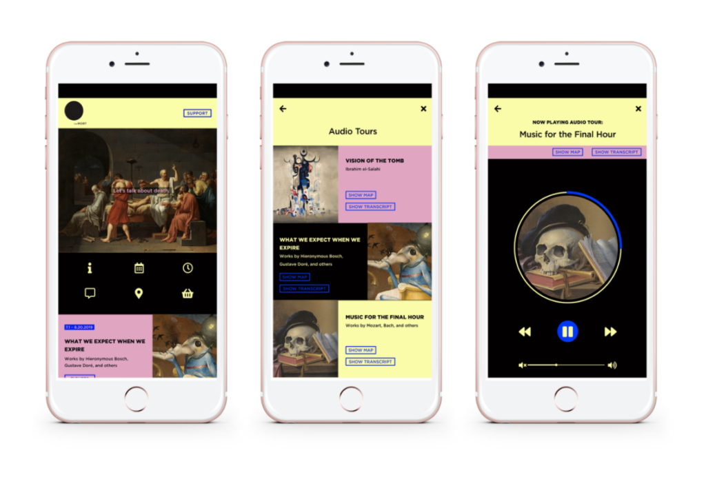 """""""The Museum of Mortality"""" mobile app by Samira Al-Ayed"""